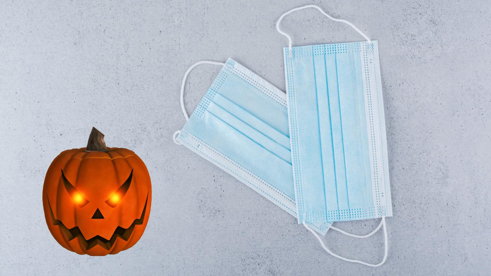mascarillas higienicas de halloween para niños pequeños